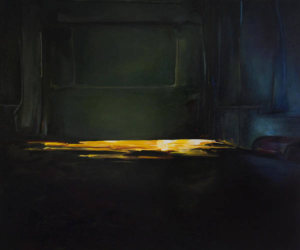 Interior Poster featuring the painting The Light Under The Door by Benjamin Roberts