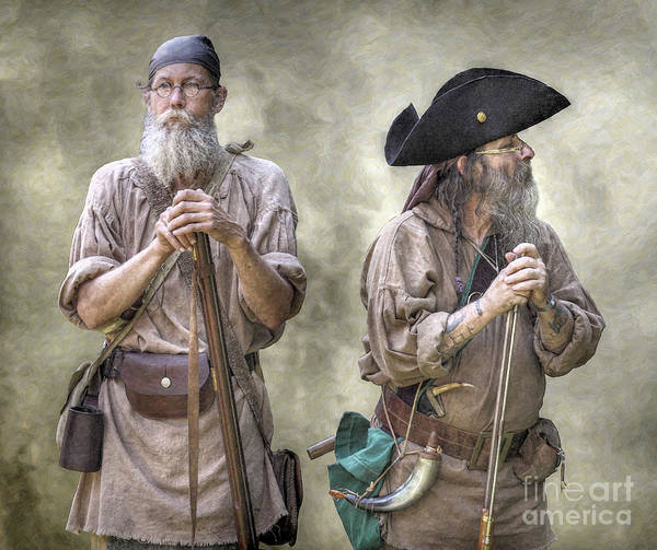 Muzzleloading Poster featuring the digital art The Two Frontiersmen by Randy Steele