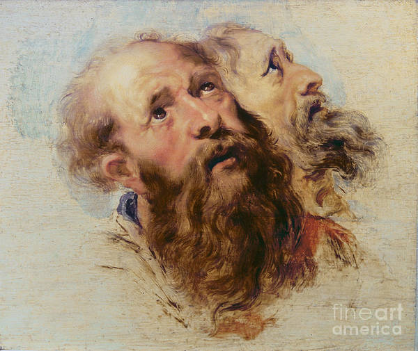 Rubens Poster featuring the painting Two Apostles by Rubens