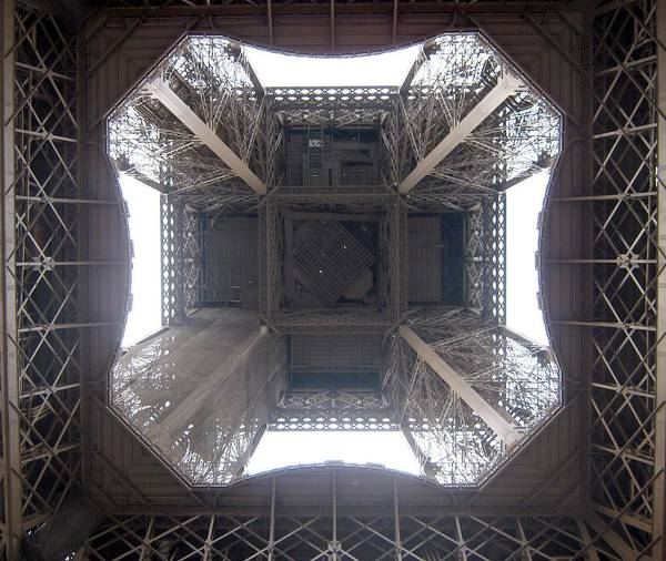 Eiffel Poster featuring the photograph Under Eiffel by Menucha Citron