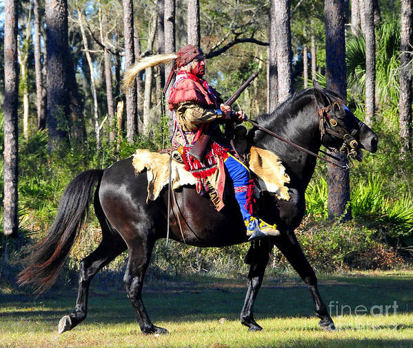 Seminole Indian Poster featuring the photograph Warpath by David Lee Thompson