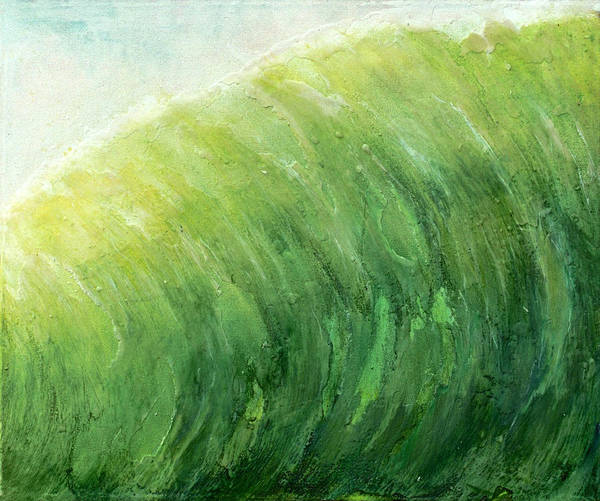 Original Painting Poster featuring the painting wave IV by Martine Letoile