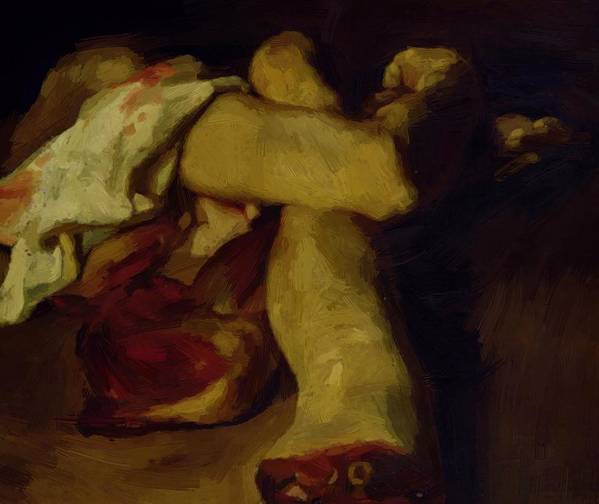 Anatomical Poster featuring the painting Anatomical Pieces by Gericault Theodore
