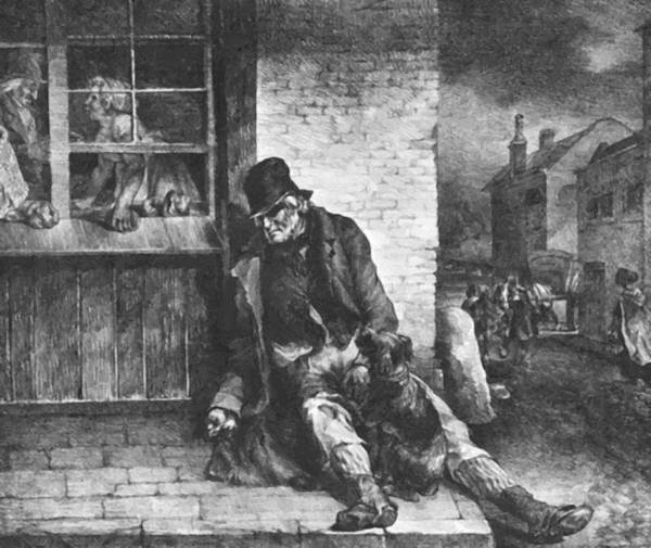 Man Poster featuring the painting Man On The Street by Gericault Theodore