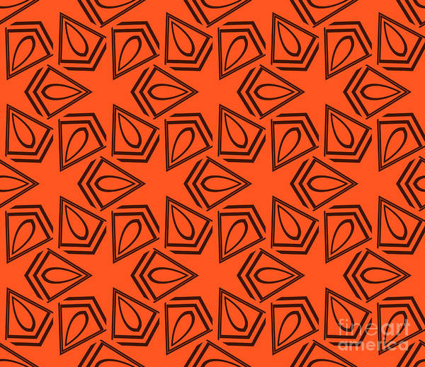 Paint Poster featuring the digital art Abstract Geometric Seamless Pattern by Alexander Rakov
