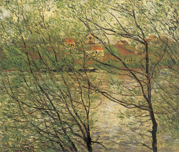 Banks Of The Seine Poster featuring the painting Banks Of The Seine Island Of La Grande Jatte by Claude Monet