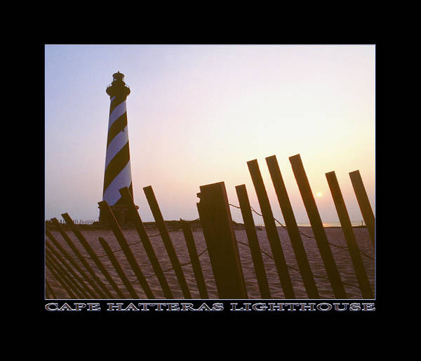 Outer Banks Sunrise Poster featuring the photograph Cape Hatteras Lighthouse by Mike McGlothlen