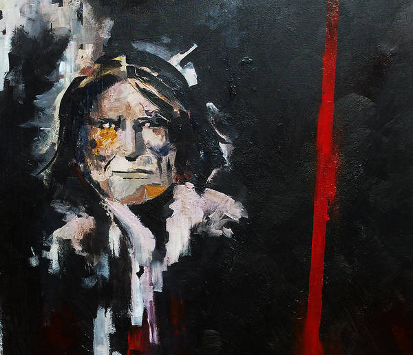 Geronimo Poster featuring the painting Geronimo by Sean Parnell