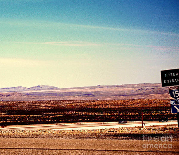Vegas Poster featuring the photograph The Road To Vegas by Tara Yarte
