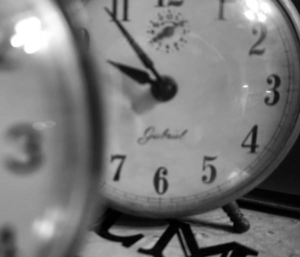 Poster featuring the photograph Tick Tock Goes The Clock by Cathy Anderson