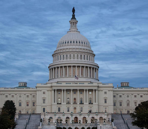 Capitol Poster featuring the photograph United States Capitol Building by Kim Hojnacki