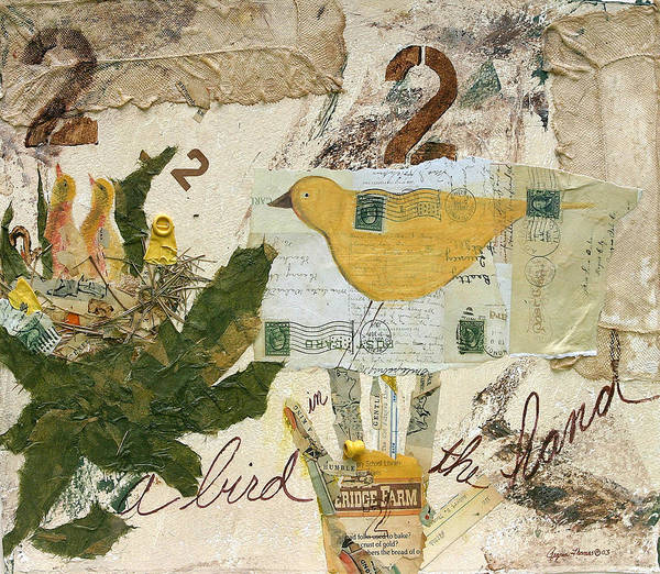 Birds Poster featuring the mixed media A Bird In The Hand by Regina Thomas