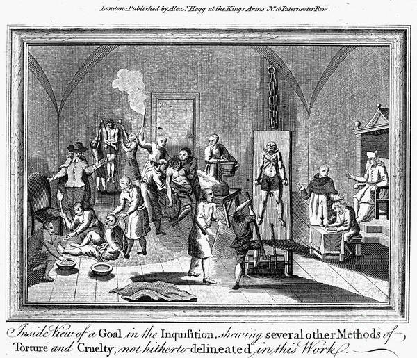 18th Century Poster featuring the photograph Spanish Inquisition by Granger