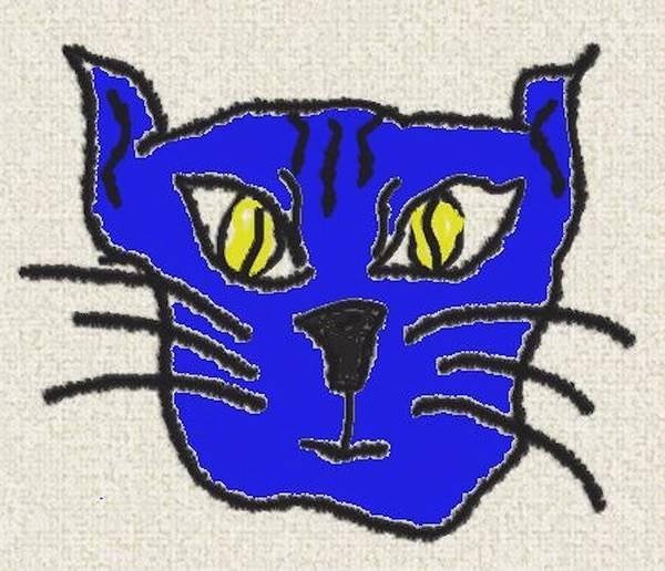 Cats Poster featuring the digital art Crazy Cat by Leeann Stumpf