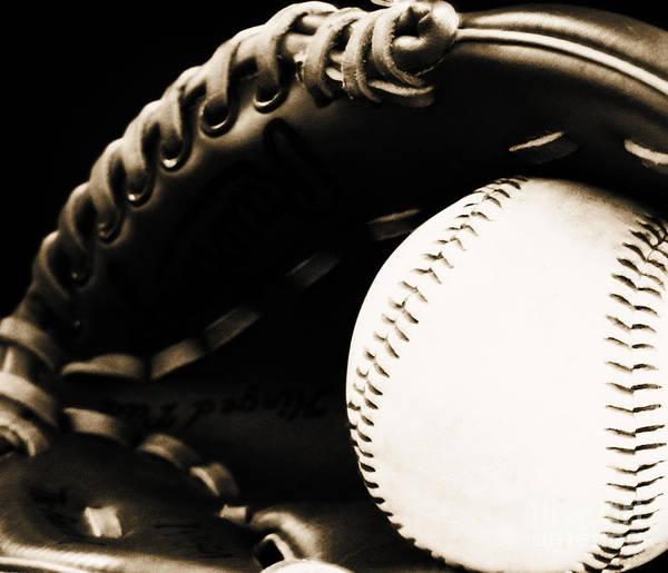 Baseball Poster featuring the photograph Home Run by Lj Lambert