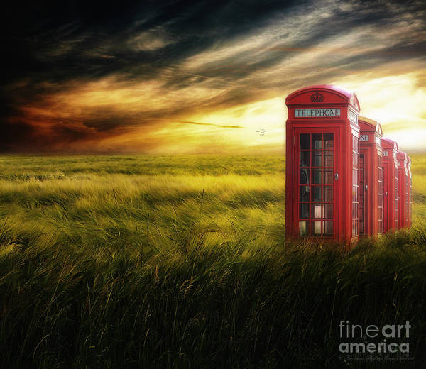 Red Poster featuring the photograph Now Home To The Red Telephone Box by Lee-Anne Rafferty-Evans