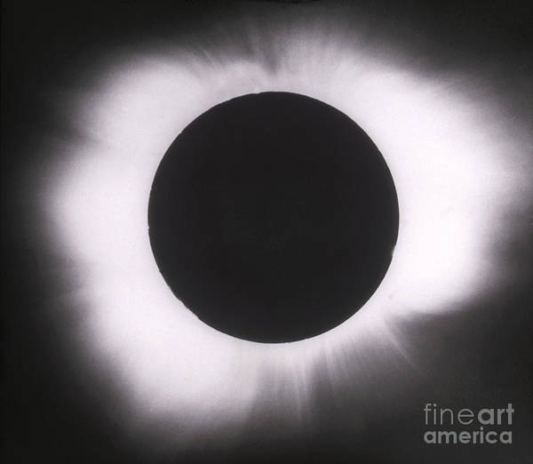 Solar Eclipse Poster featuring the photograph Solar Eclipse With Outer Corona by Science Source