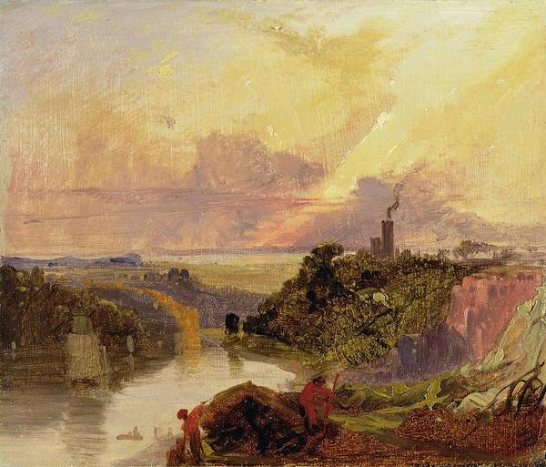 Xyc159628 Poster featuring the photograph The Avon Gorge At Sunset by Francis Danby