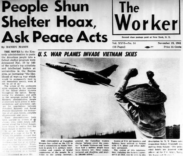 History Poster featuring the photograph Us Planes Invade Vietnam Skies. An by Everett