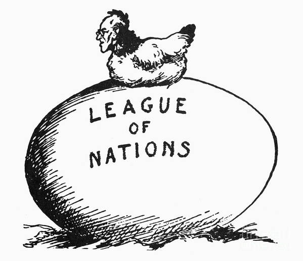 1919 Poster featuring the photograph Wilson: League Of Nations by Granger