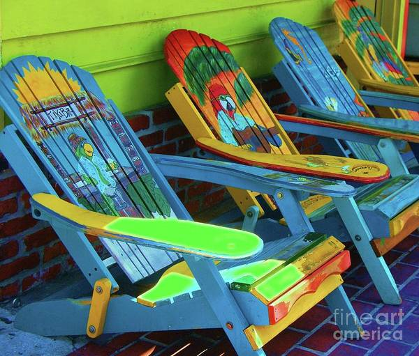 Chairs Poster featuring the photograph License To Chill by Debbi Granruth