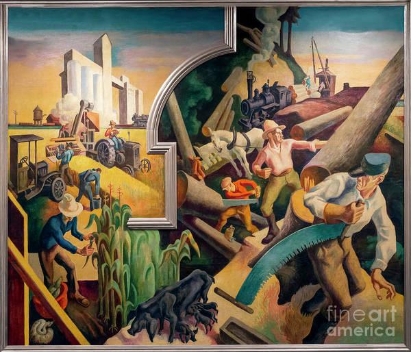 midwest, america today, thomas hart benton, 1930-1931, metropoli ...
