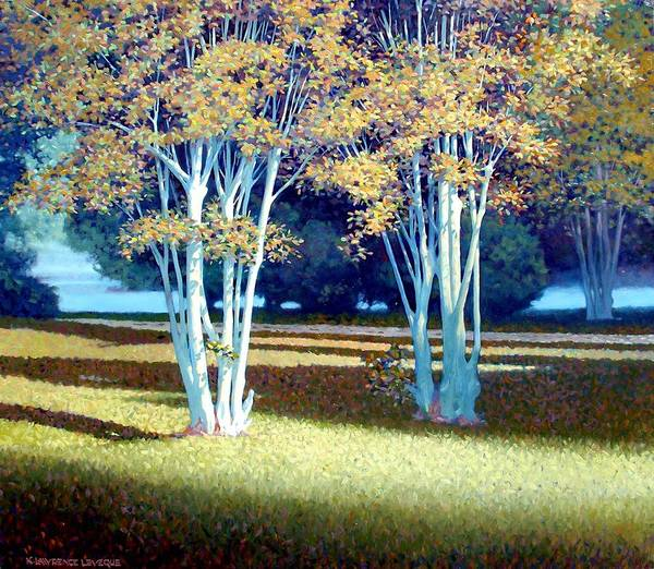 Fog Poster featuring the painting Morning Fog by Kevin Lawrence Leveque