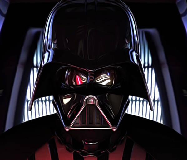 Star Wars Poster featuring the digital art Galaxies Star Wars Art by Larry Jones