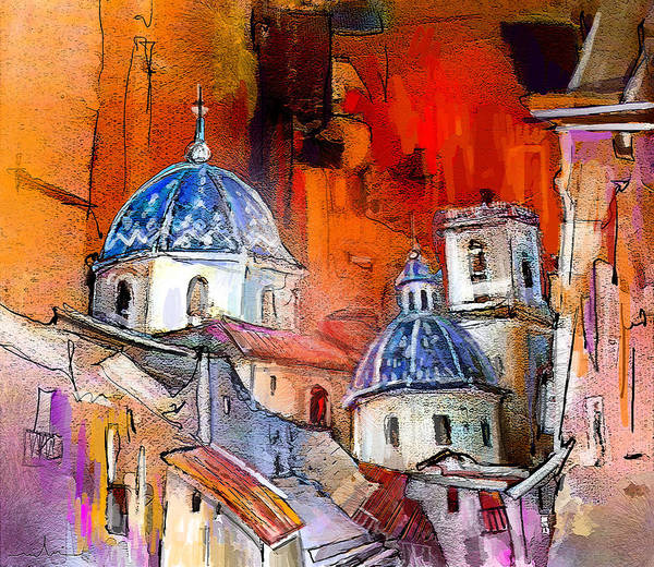 Altea Painting Poster featuring the painting Altea 03 by Miki De Goodaboom