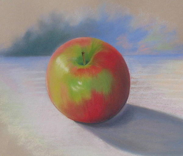 Apple Poster featuring the painting An Apple A Day by Shirley Galbrecht