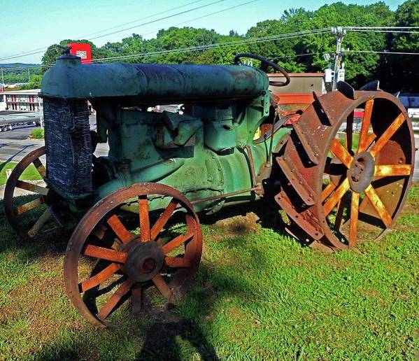 Hurricane Mills Poster featuring the photograph Antique Tractor 3 by Ron Kandt