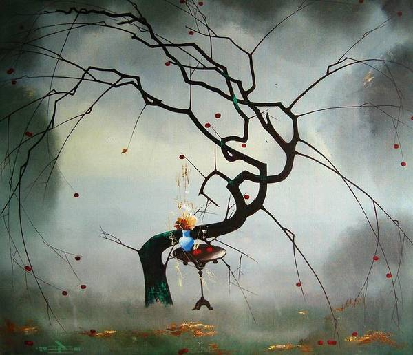 Still Life Poster featuring the painting Autumn by Andrej Vystropov