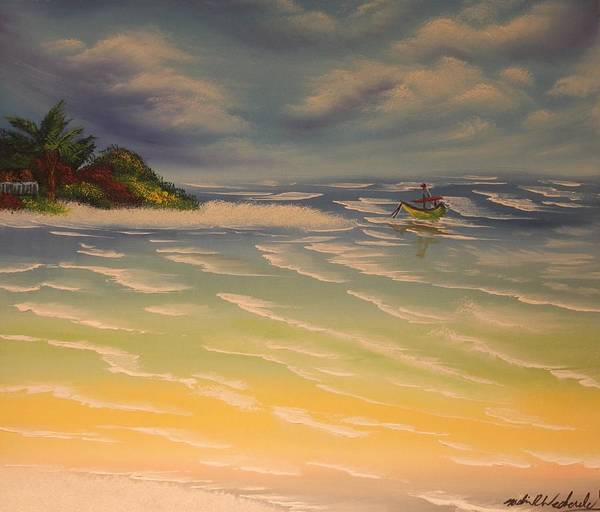 Beach Poster featuring the painting Beach Island by Nadine Westerveld