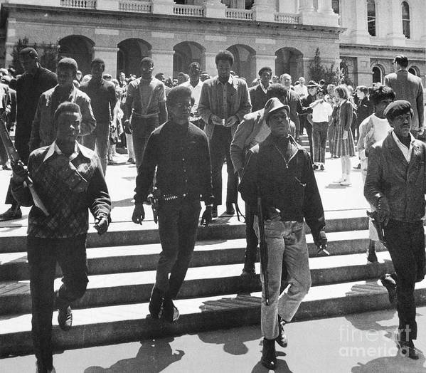 1967 Poster featuring the photograph Black Panthers, 1967 by Granger
