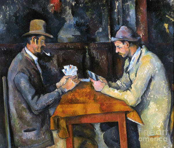 Aod Poster featuring the photograph Cezanne: Card Player, C1892 by Granger