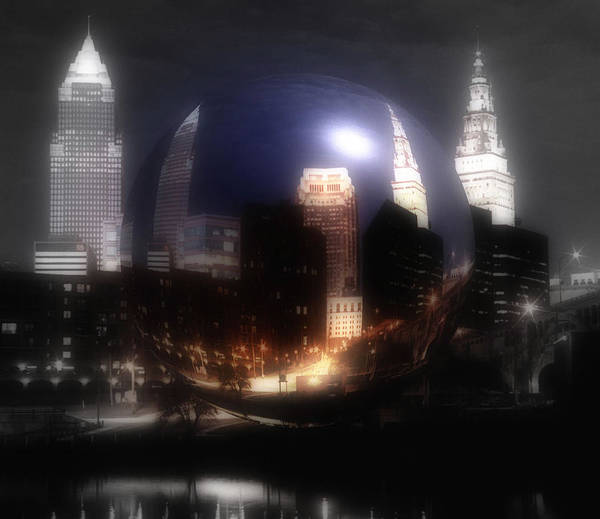 Cleveland Poster featuring the photograph City On The North Coast by Kenneth Krolikowski
