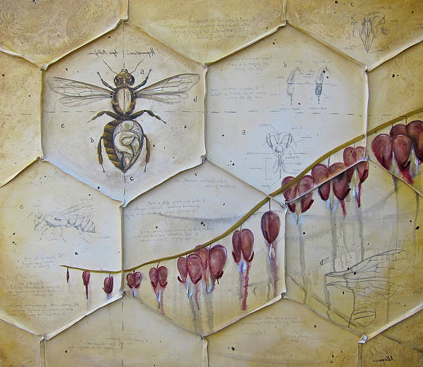 Honey Bees Poster featuring the painting Colony Collapse Disorder by Kristin Llamas