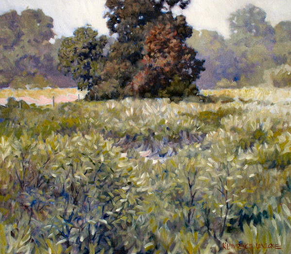 Landscape Poster featuring the painting Copse by Kevin Lawrence Leveque