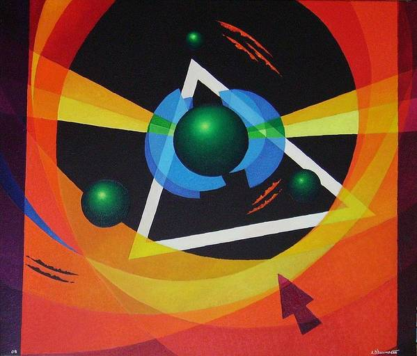 Abstract Poster featuring the painting Crossing by Alberto DAssumpcao