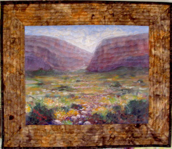 Realism Poster featuring the mixed media Desert Spring by Diane and Donelli DiMaria