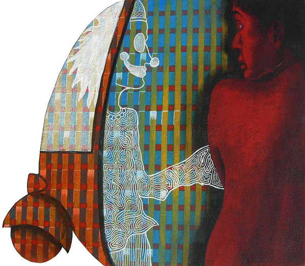 Contemporary Poster featuring the painting Floating Fantacy 3 by Bharat Gothwal