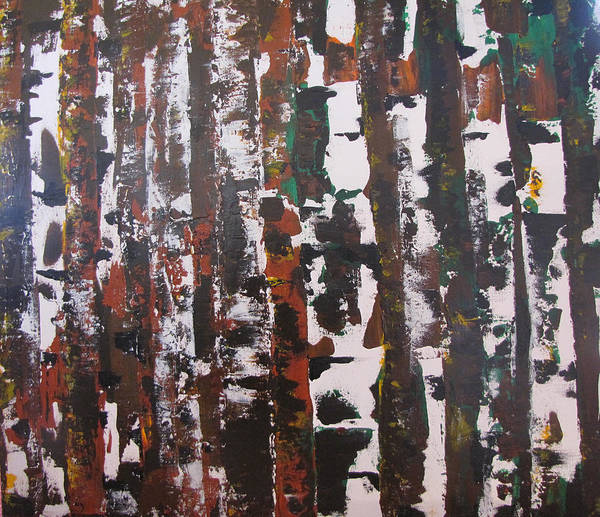 Abstract Poster featuring the painting Forest For The Trees by Gary Smith