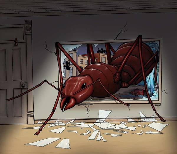 Giant Poster featuring the digital art Giant Ant by Scott Harshbarger