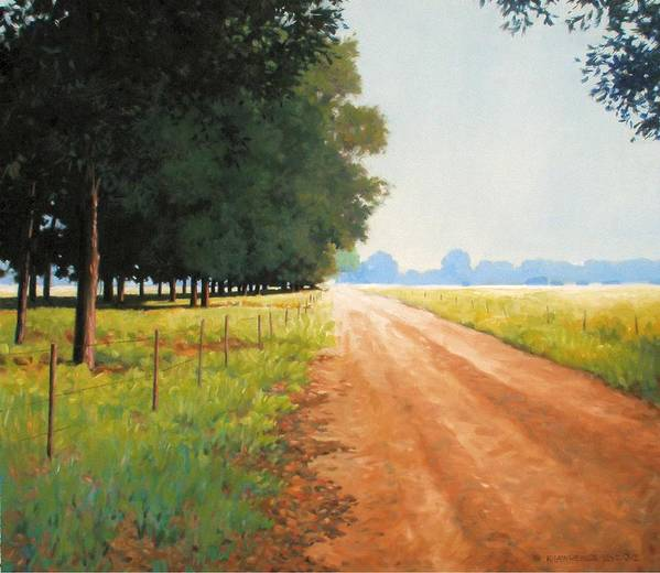 Landscape Poster featuring the painting Monday Morning by Kevin Lawrence Leveque