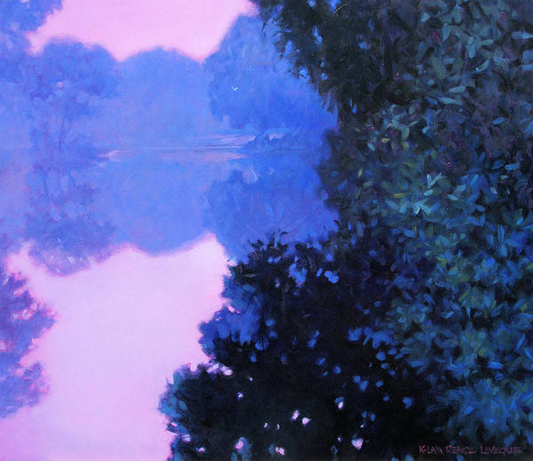 Landscape Painting Poster featuring the painting Moody River by Kevin Lawrence Leveque