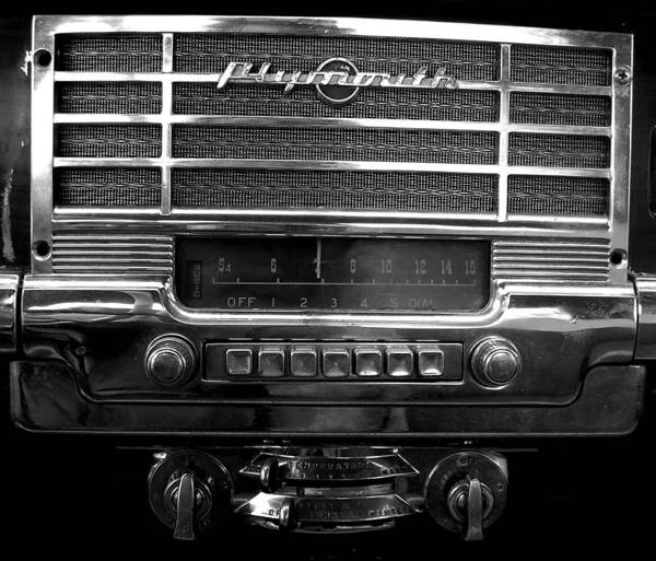 Car Poster featuring the photograph Plymouth Radio by Audrey Venute