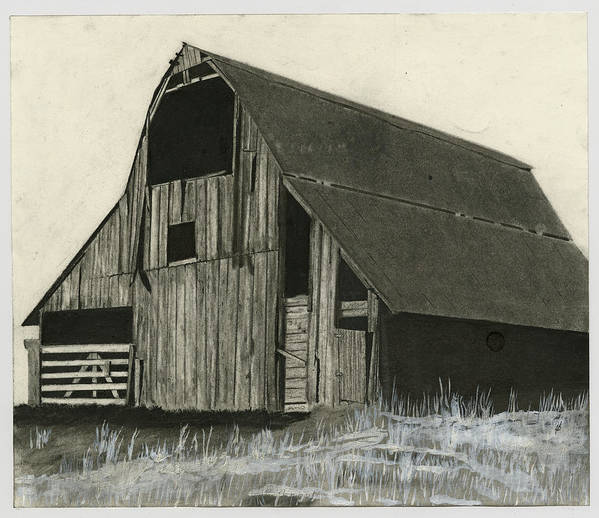 Rural Framed Prints Poster featuring the drawing Prairie Overlook by Bryan Baumeister