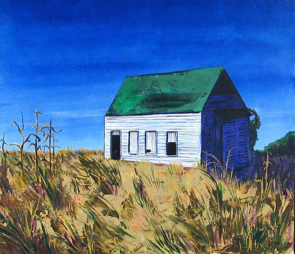Landscape Poster featuring the painting Rural House by Rollin Kocsis