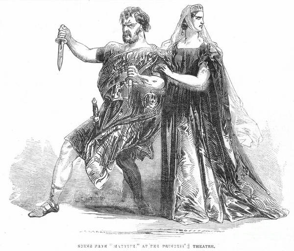 1845 Poster featuring the photograph Shakespeare: Macbeth, 1845 by Granger