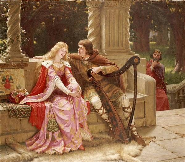 Valentine's Day Poster featuring the painting The End Of The Song by Edmund Blair Leighton